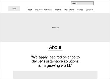 Amyris Inc. UX Strategy & Website Redesign UX Strategy Image 3