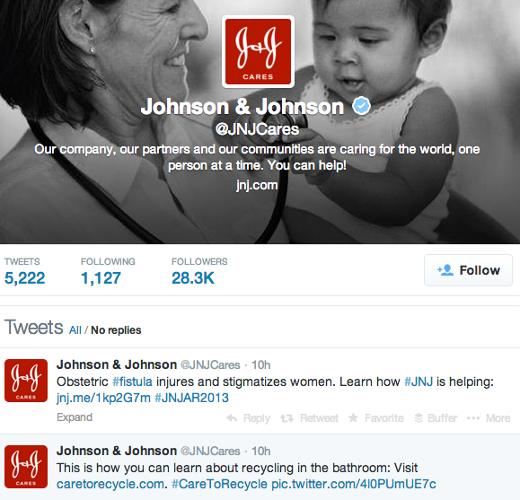 Johnson & Johnson Background Image