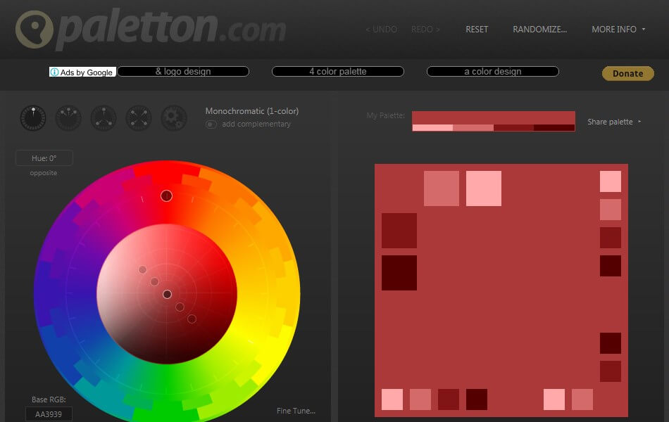 Paletton - Color suggesting tool