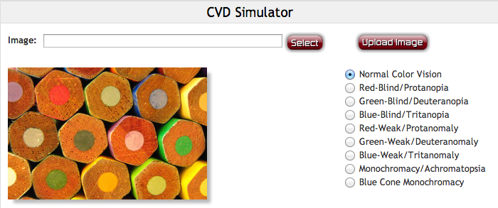 Coblis's CVD Simulator offers many options to test your design.