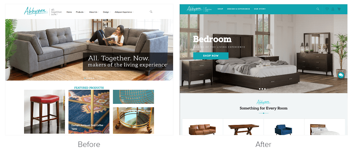 Abbyson web redesign example