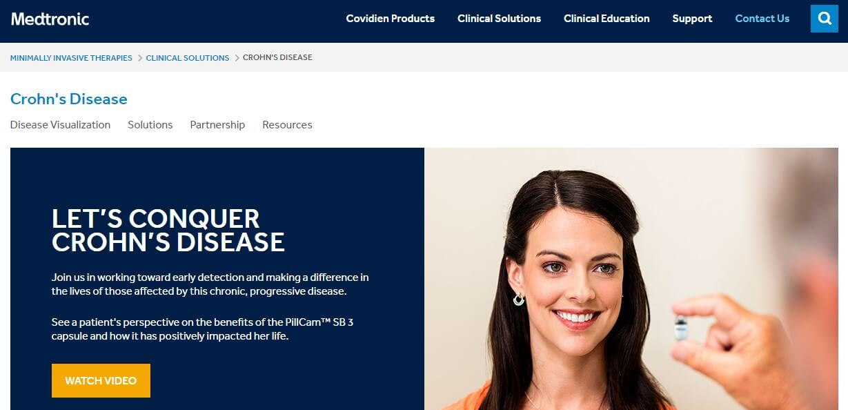 Medtronic Website Example Page
