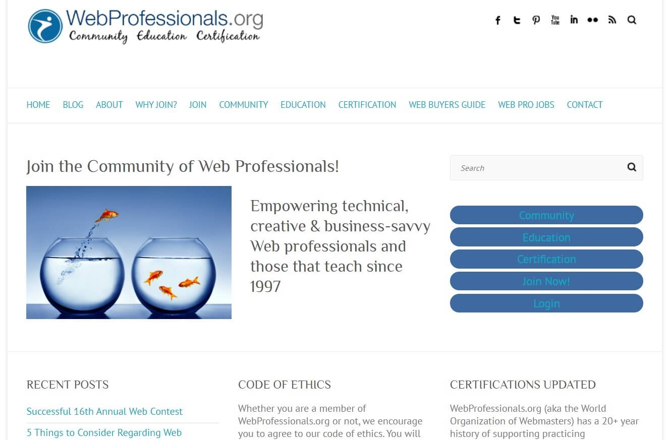 webprofessionals website