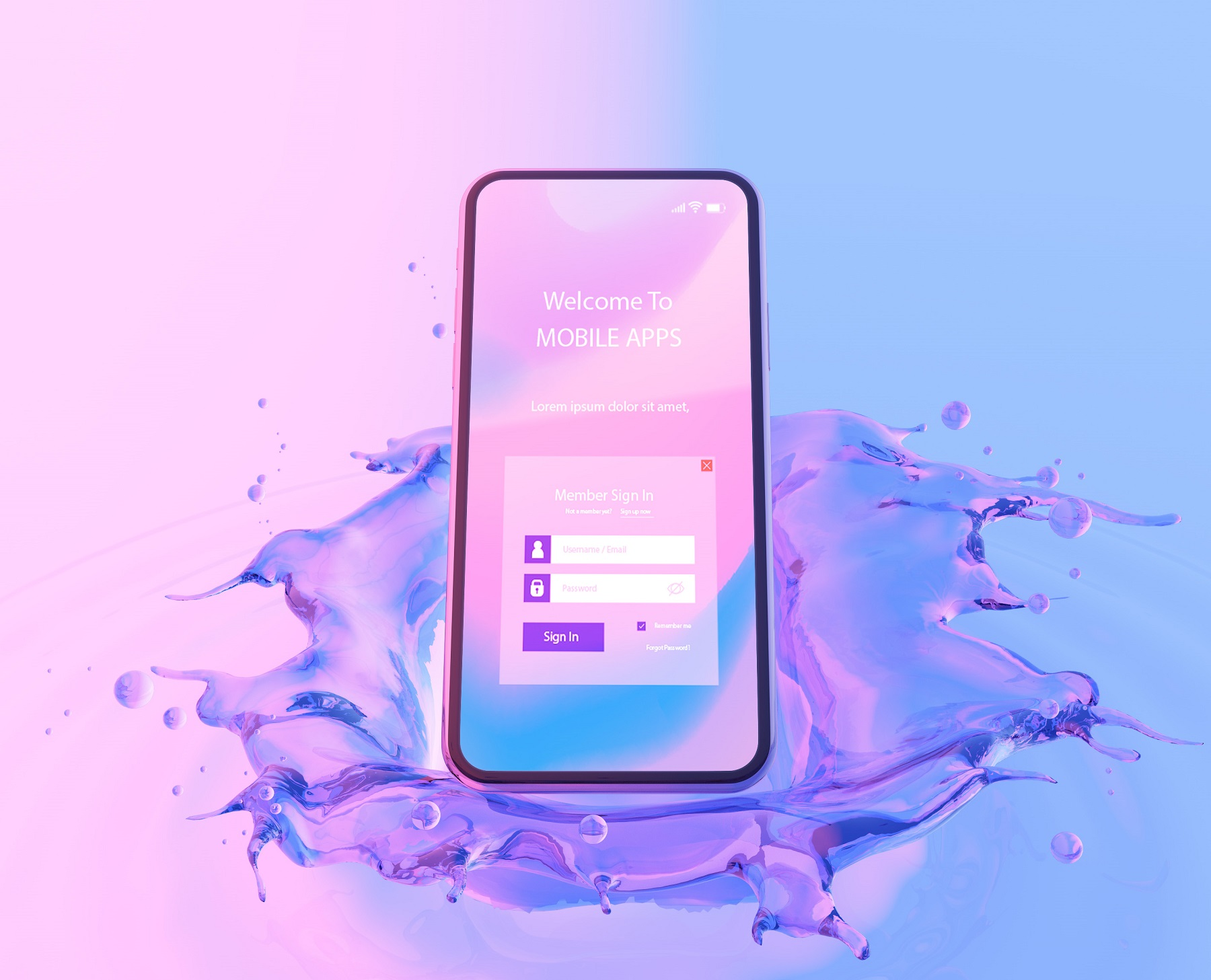 Mobile Splash Screen