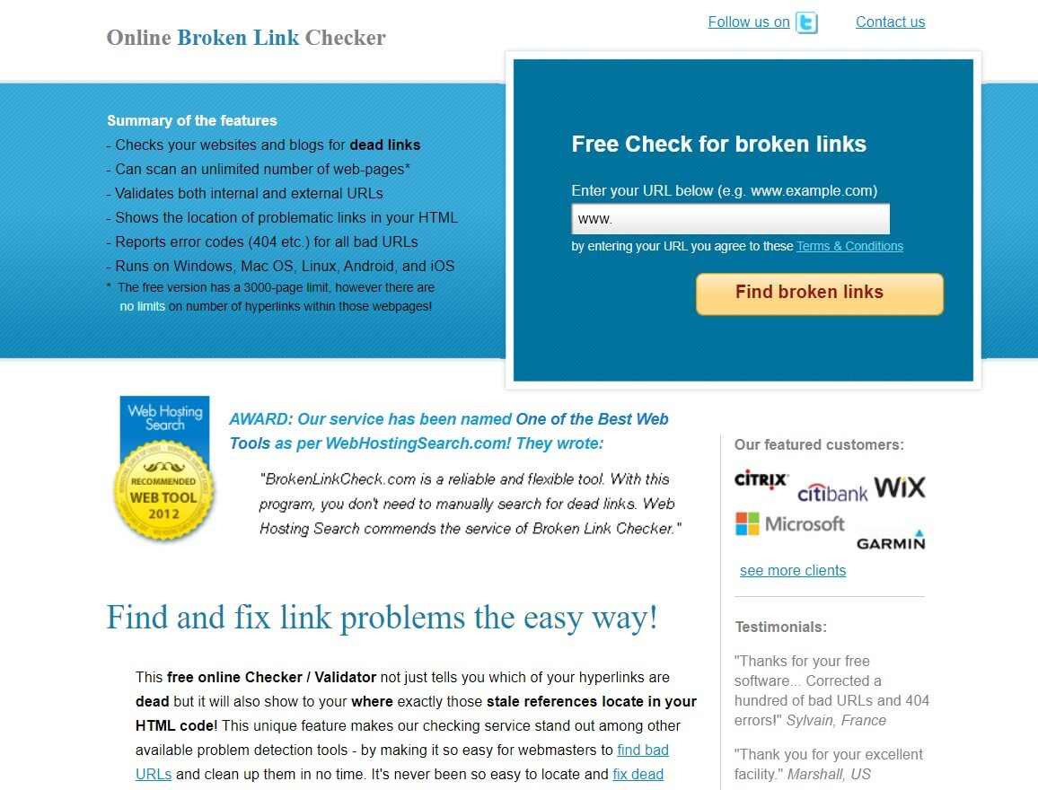 Broken Link Checker SEO Tool
