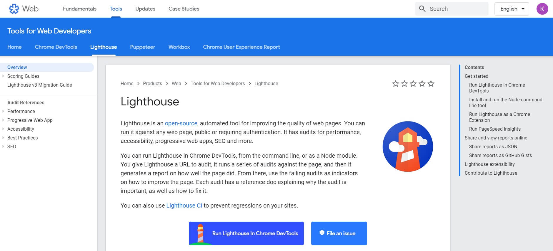 Lighthouse SEO Tool