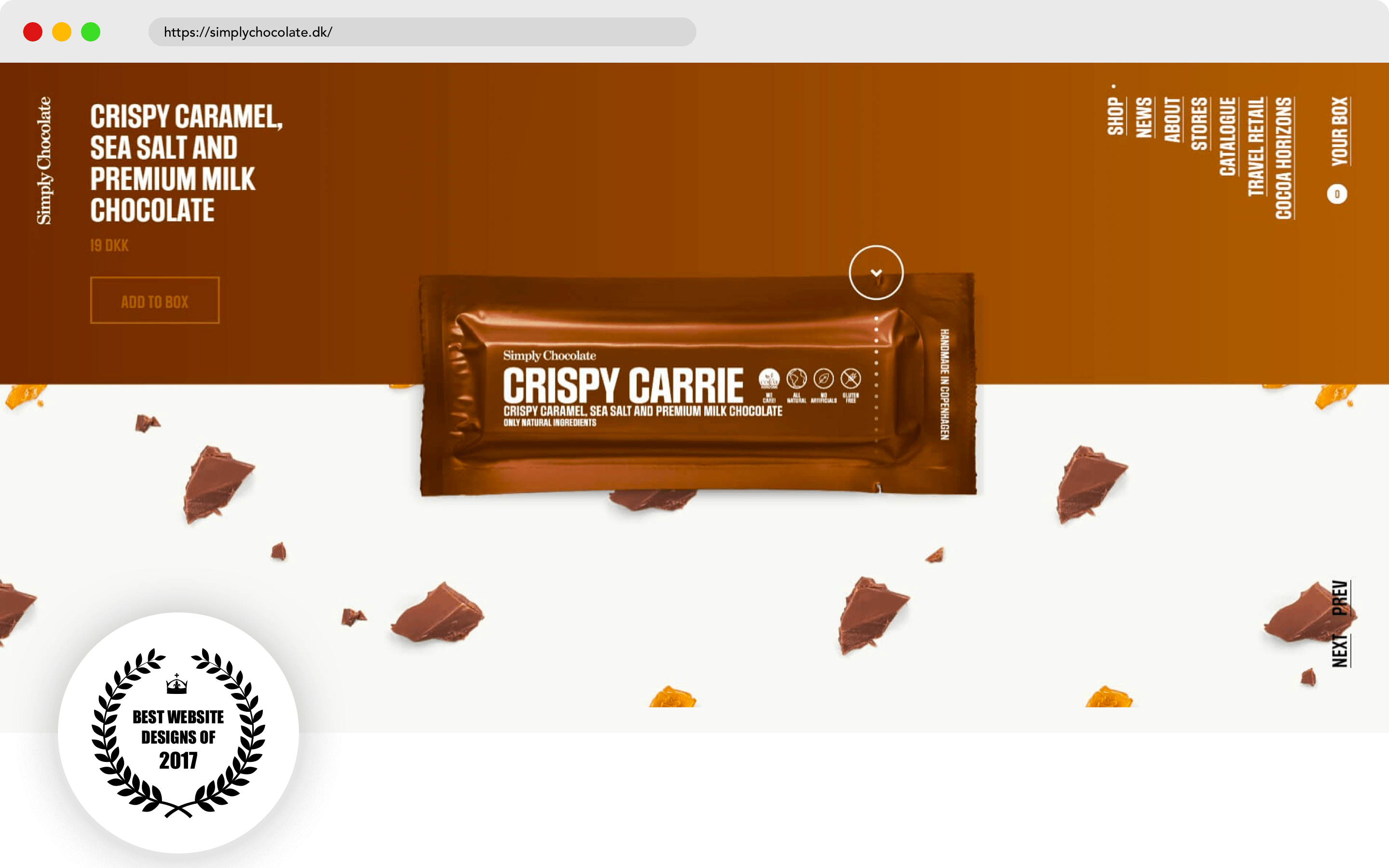Simply Chocolate Website Design