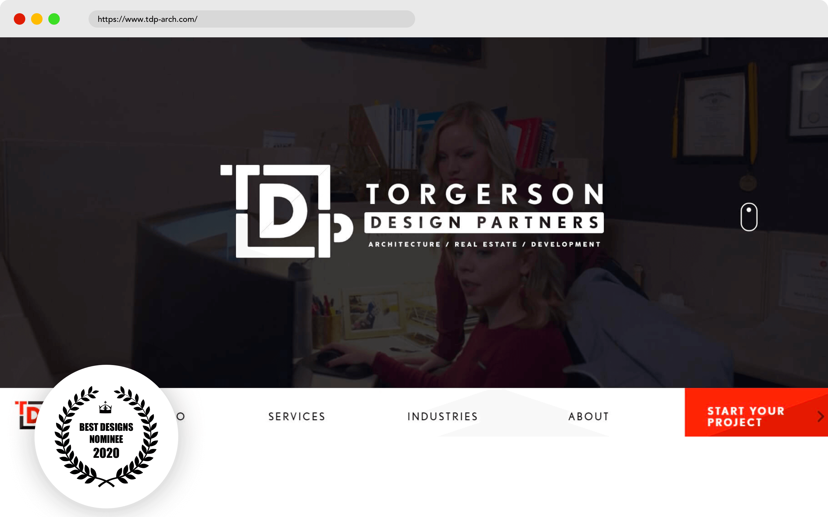 Torgerson Design Partners Website Design