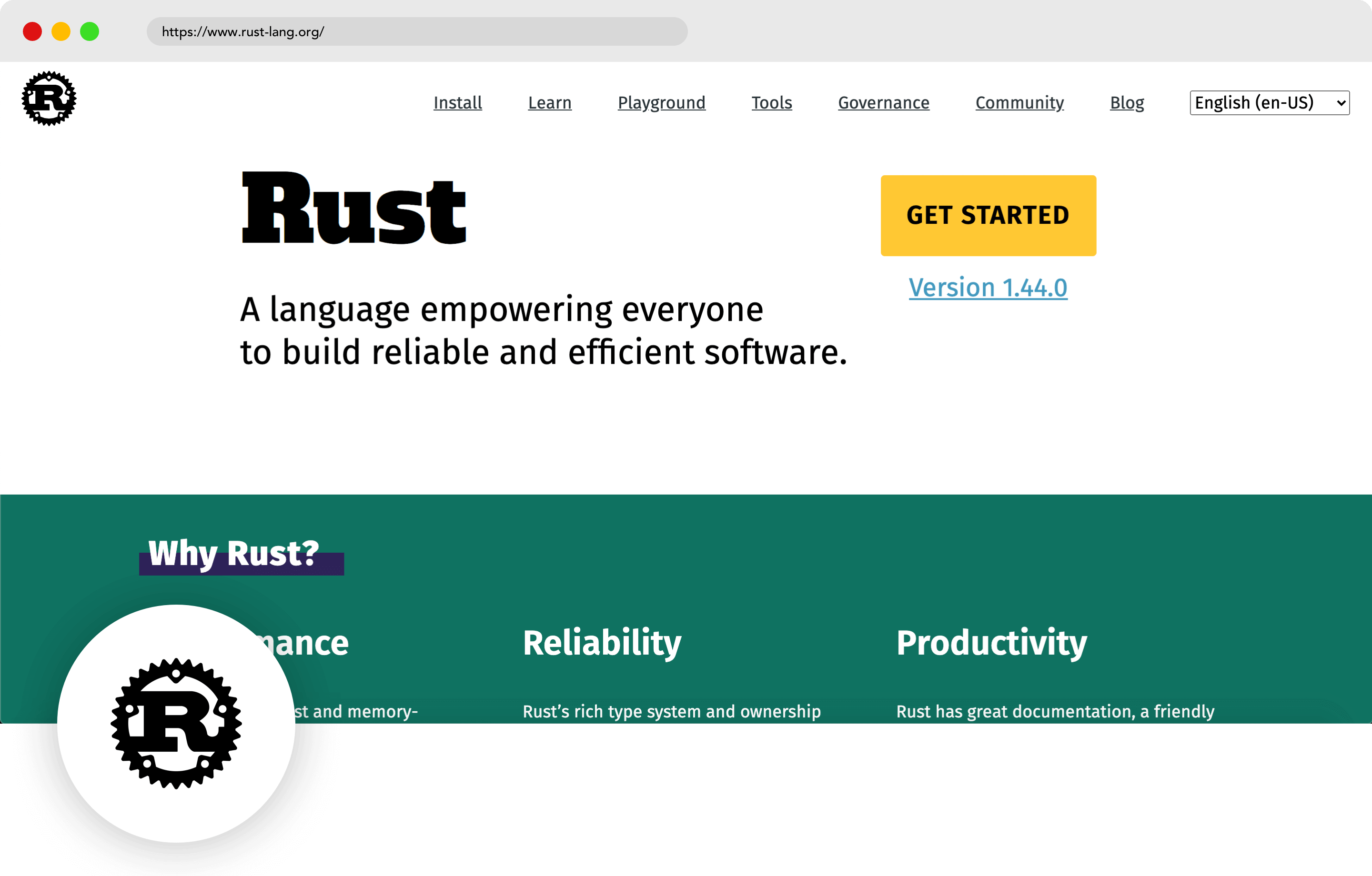 Rust mobile development language
