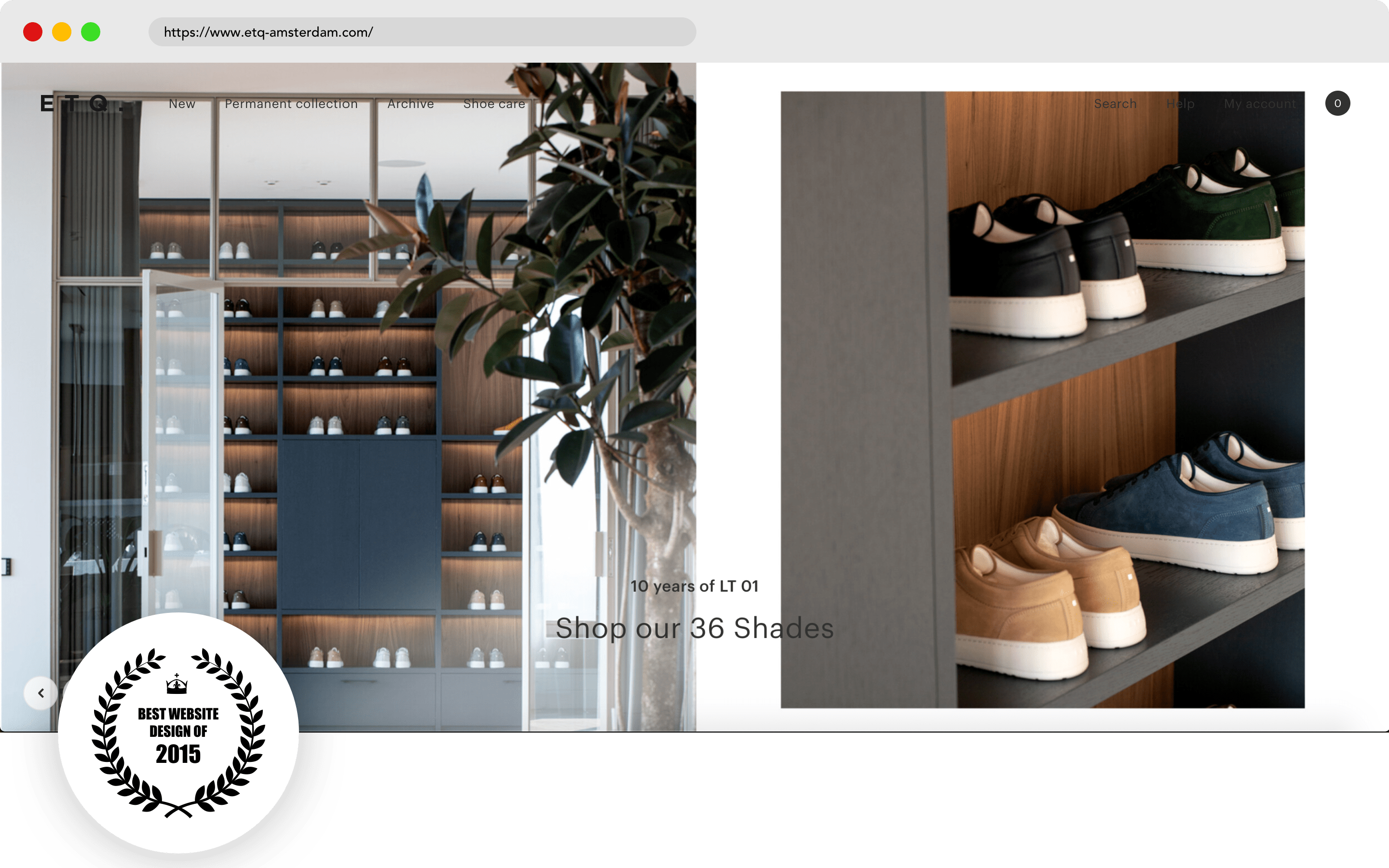 ETQ Amsterdam Website Design