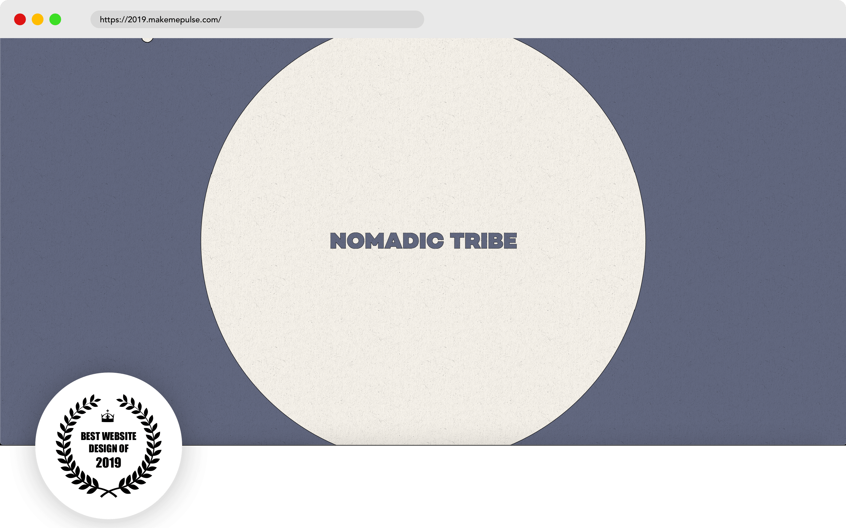 Nomadic Tribe Website Design