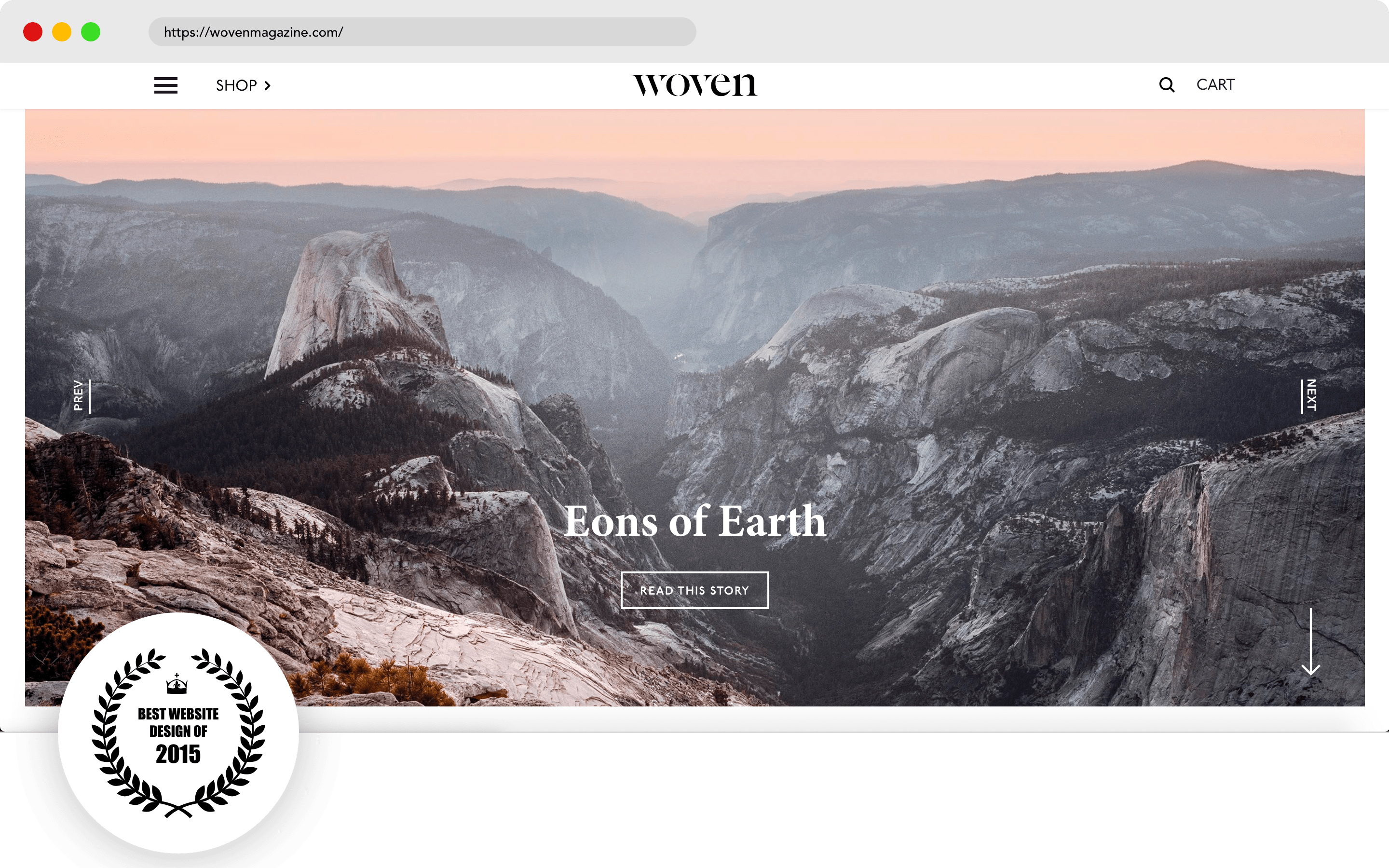 Woven magazine Website Design