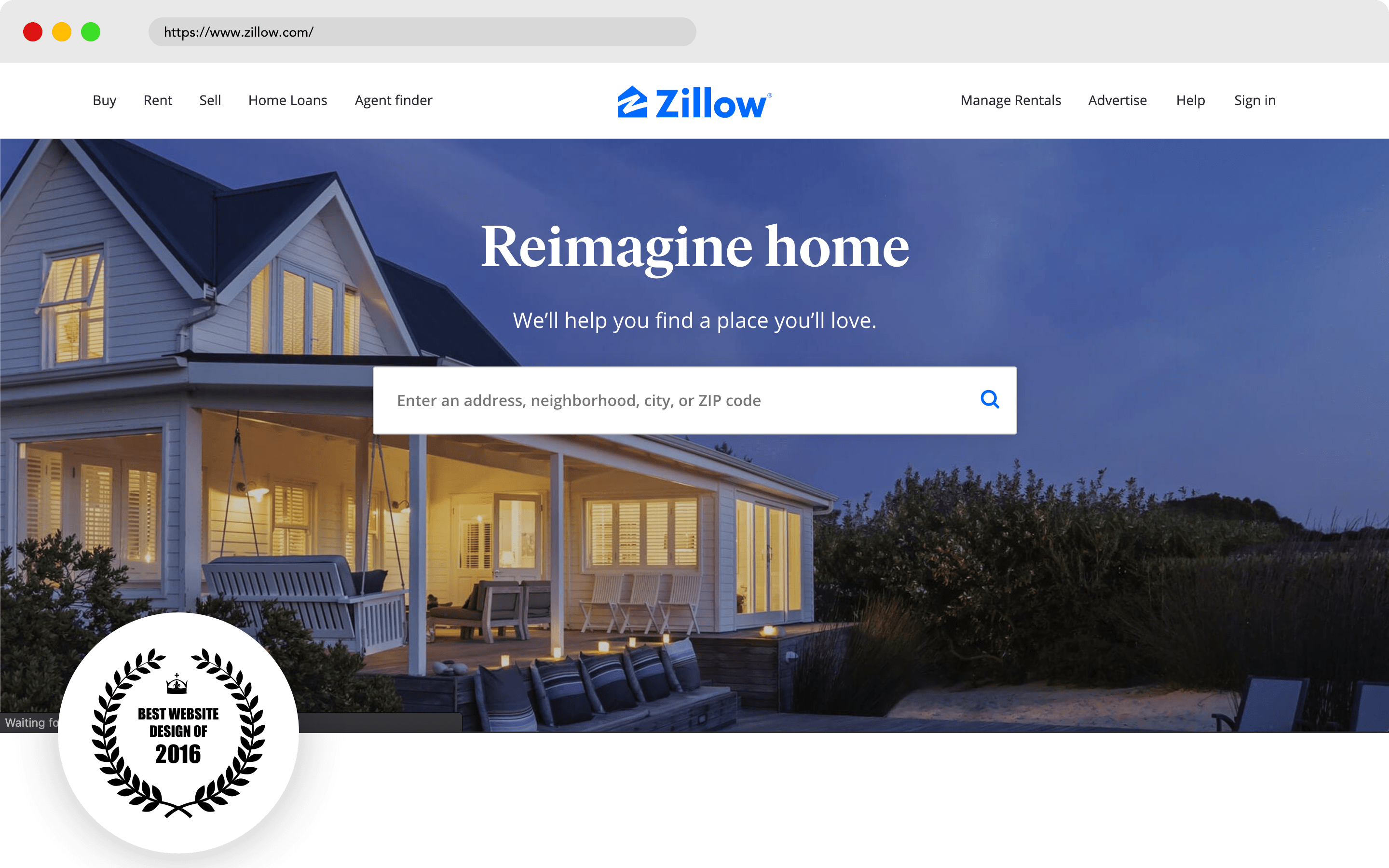 Zillow Website Design