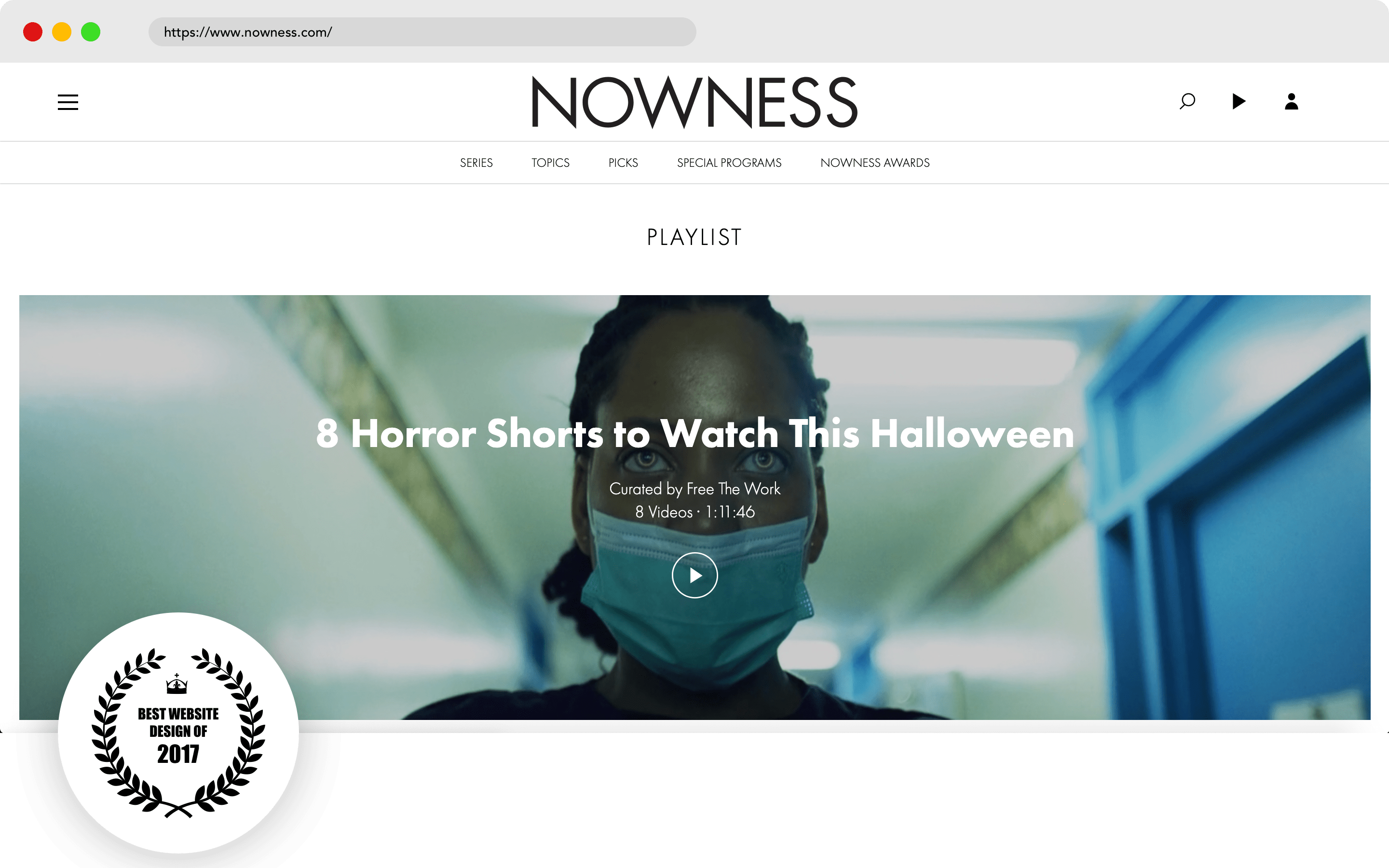 Nowness Website Design