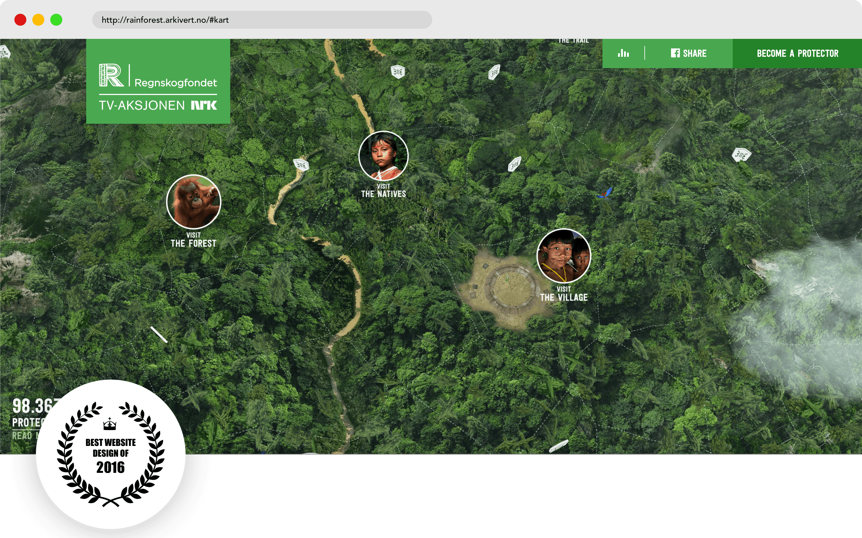 rainforest.arkivert Website Design