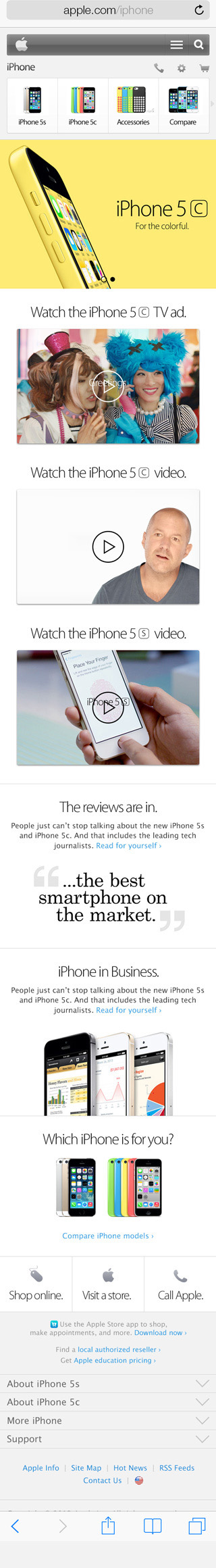 iphone 5c website