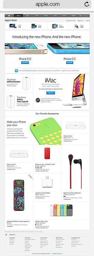 Apple mobile site