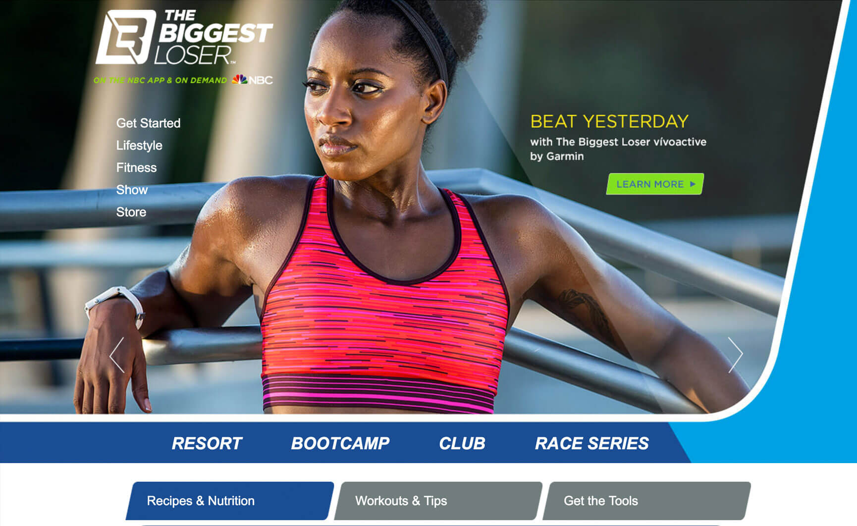 The Biggest loser website redesign
