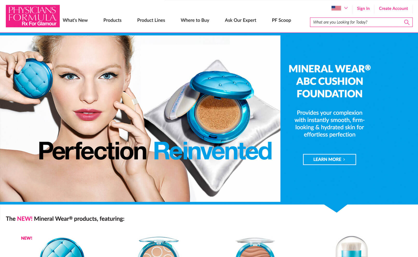 Physicians Formula website Redesign
